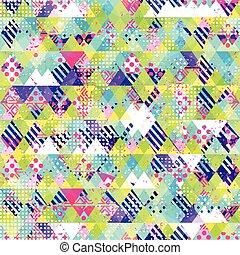 Cloth seamless pattern. Grunge effect