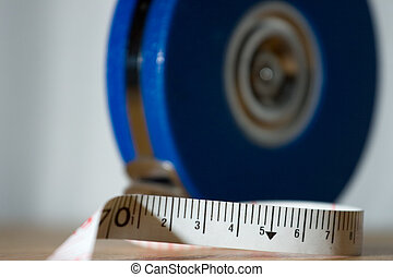 Cloth tape measure - Detail of a metric cloth tape measure