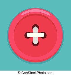 Clothe Button Vector Illustration