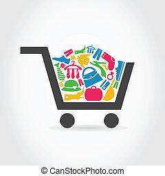 Clothes a cart
