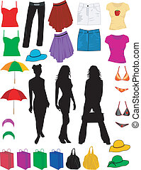 clothes and fashion accessories