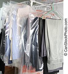 Clothes at the laundrette