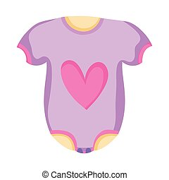 clothes baby with heart