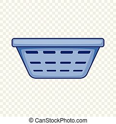 Clothes basket icon, cartoon style