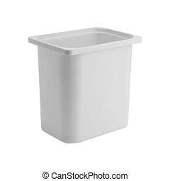 Clothes basket isolated on white