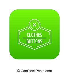 Clothes button craft icon green