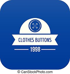 Clothes button design icon blue vector