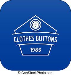 Clothes button dress icon blue vector