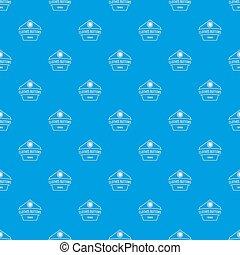 Clothes button dress pattern seamless blue
