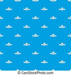 Clothes button fabric pattern seamless blue