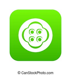 Clothes button icon green