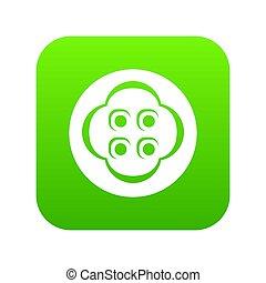 Clothes button icon green