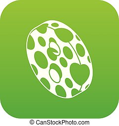 Clothes button icon green vector