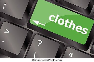 clothes button on computer keyboard. Keyboard keys icon button vector