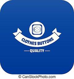 Clothes button retro icon blue vector