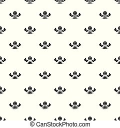 Clothes button retro pattern vector seamless repeat for any...