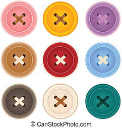 Clothes Buttons Collection - Vector File EPS10