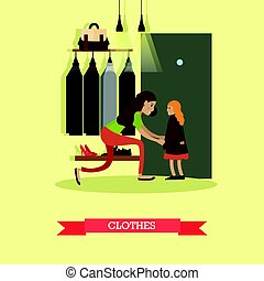 Clothes concept vector illustration in flat style.
