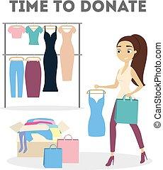 Clothes donation illustration.