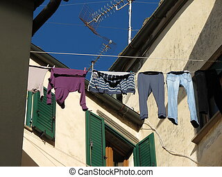 Clothes drying dip