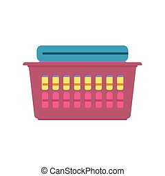 Clothes folded in a basket