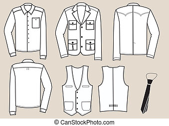 Clothes for men illustration. Vector clothing