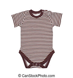 Clothes for the newborn isolated on white. Clipping paths...