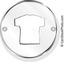 Clothes for women or man. T-shirt icon isolated on white