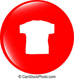 Clothes for women or man. T-shirt icon isolated