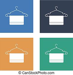 clothes hanger Flat Icon set