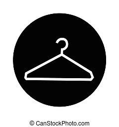 Clothes Hanger Icon illustration design