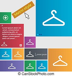 clothes hanger icon sign. buttons. Modern interface website buttons with cursor pointer. Vector
