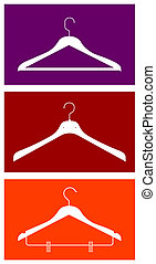 Clothes hangers - Three clothes hangers. Vector available