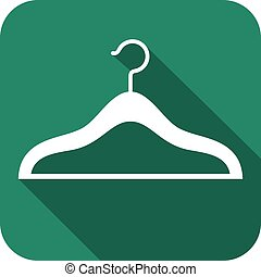 clothes hangers flat icon