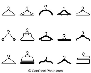 clothes hangers icon - isolated clothes hangers icon on...