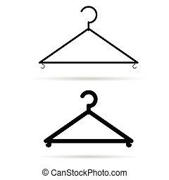 clothes hangers illustration