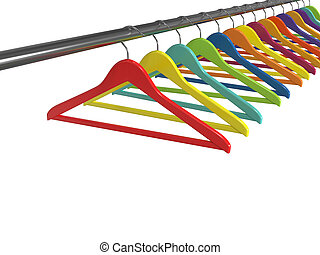 Clothes hangers isolated