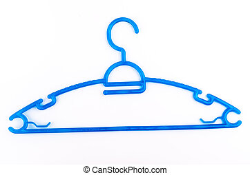Clothes hangers isolated white background