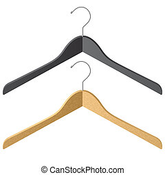 Clothes hangers - Vector illustration of two clothes hangers...