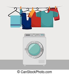 clothes hanging laundry service