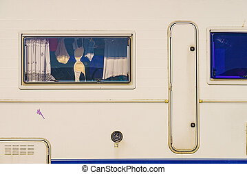 Clothes hanging to dry in camper - Holidays, dventure ...