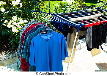clothes horse - drying rack outdoor, photo icon for house...