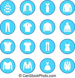 Clothes icon blue