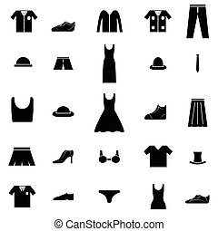 clothes icon set