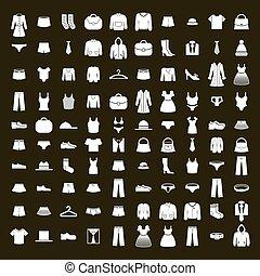 Clothes icon vector set