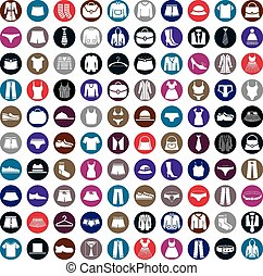 Clothes icons vector collection