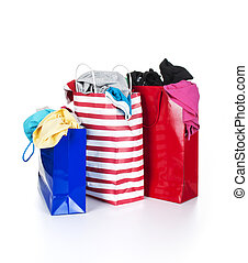 Clothes in a bag