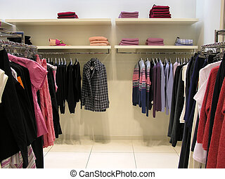 clothes in shop -           clothes in shop
