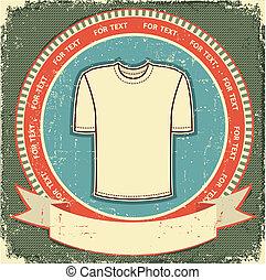 Clothes label set on vintage old paper.Vector t-shirt background
