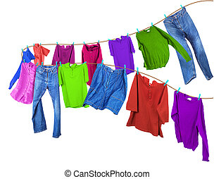 Clothes on a clothesline2.